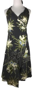Diesel Floral Velvet Burnout Wrap Halter Dress