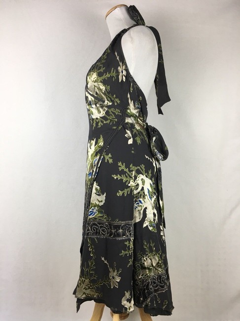 Diesel Floral Velvet Burnout Wrap Halter Dress Image 1