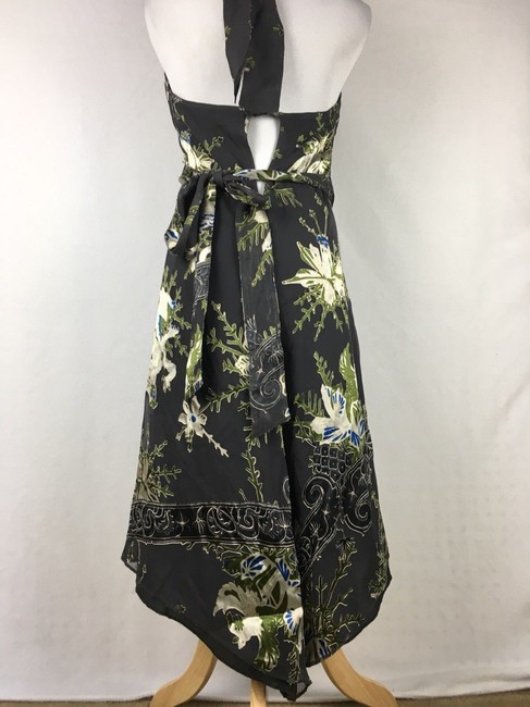 Diesel Floral Velvet Burnout Wrap Halter Dress Image 2