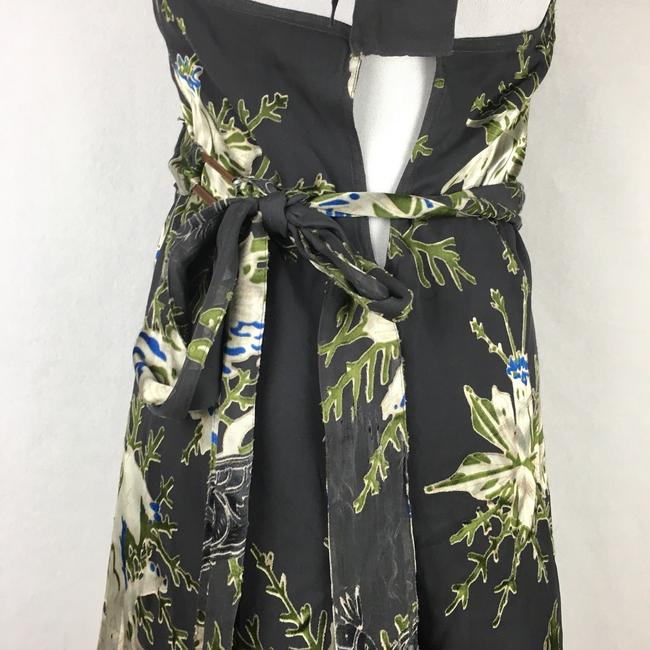 Diesel Floral Velvet Burnout Wrap Halter Dress Image 3