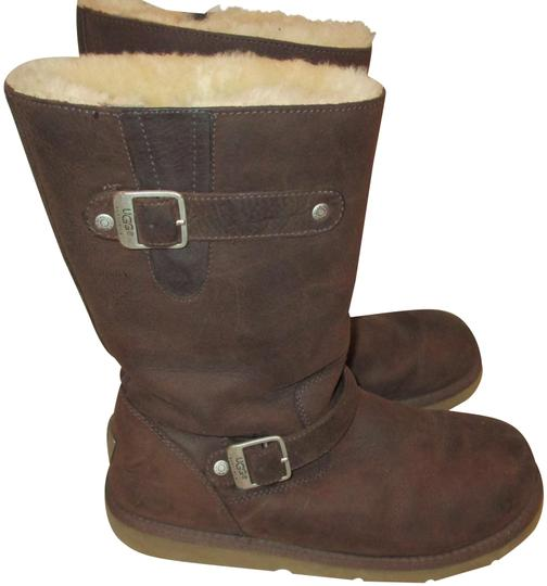 Preload https://img-static.tradesy.com/item/24899608/ugg-australia-brown-kensington-leather-sheepskin-5678-bootsbooties-size-us-9-regular-m-b-0-1-540-540.jpg
