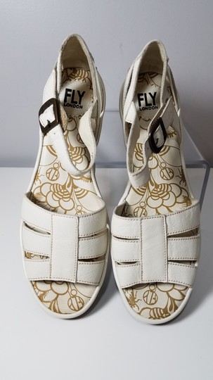 FLY London off-white Sandals Image 3