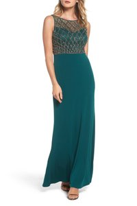 Adrianna Papell Gown Beaded Mermaid Dress