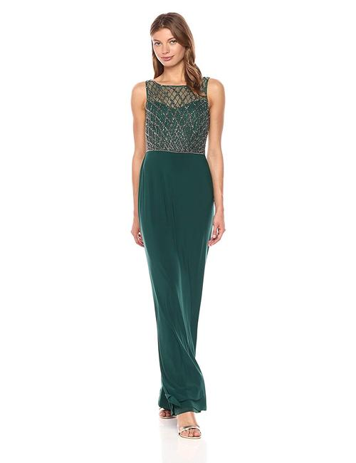 Adrianna Papell Gown Beaded Mermaid Dress Image 1