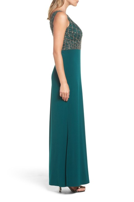 Adrianna Papell Gown Beaded Mermaid Dress Image 2