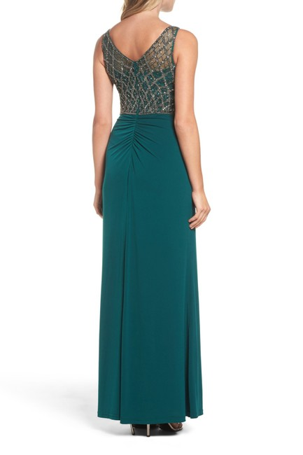Adrianna Papell Gown Beaded Mermaid Dress Image 3