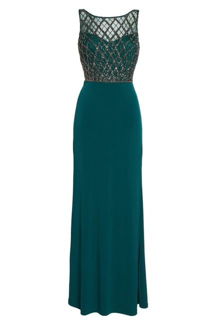 Adrianna Papell Gown Beaded Mermaid Dress Image 4