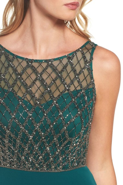Adrianna Papell Gown Beaded Mermaid Dress Image 5