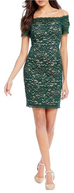 Preload https://img-static.tradesy.com/item/24899827/adrianna-papell-hunter-bisque-off-the-shoulder-lace-sheath-short-cocktail-dress-size-2-xs-0-1-650-650.jpg