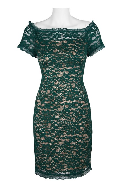 Adrianna Papell Lace Off The Shoulder Sheath Dress Image 3