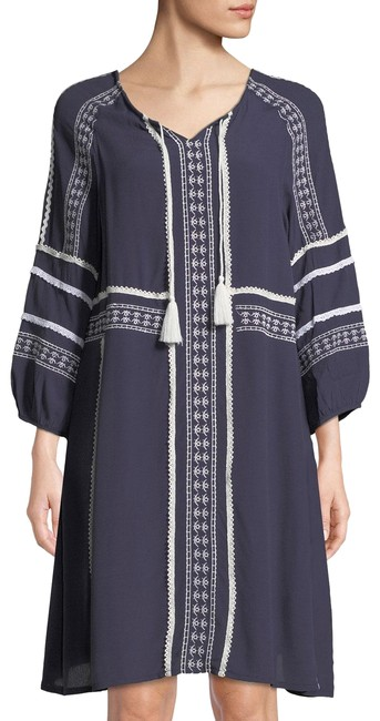 Preload https://img-static.tradesy.com/item/24899833/navy-long-sleeve-embroidered-boho-mid-length-short-casual-dress-size-8-m-0-1-650-650.jpg