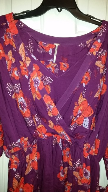 Free People Top Purple/pink/floral multi Image 1