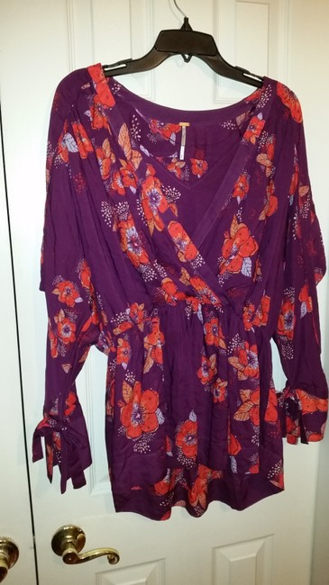 Free People Top Purple/pink/floral multi Image 2