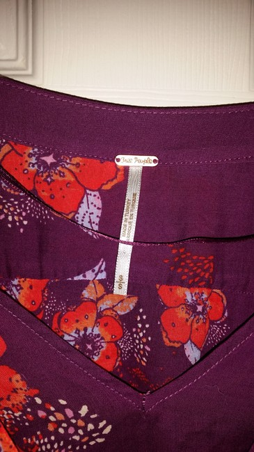 Free People Top Purple/pink/floral multi Image 4