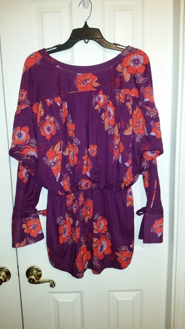 Free People Top Purple/pink/floral multi Image 5