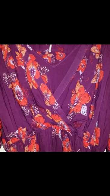 Free People Top Purple/pink/floral multi Image 6