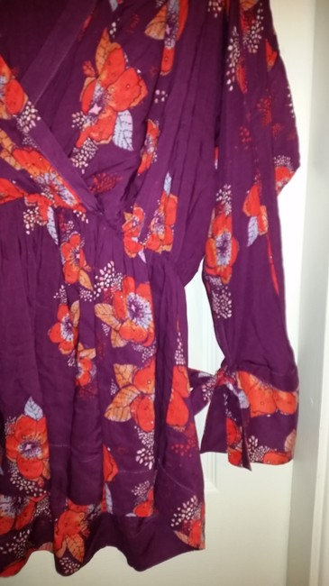 Free People Top Purple/pink/floral multi Image 7