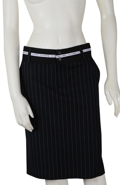 Preload https://img-static.tradesy.com/item/24899905/dolce-and-gabbana-black-dolce-and-gabbana-striped-skirt-size-6-s-28-0-1-650-650.jpg