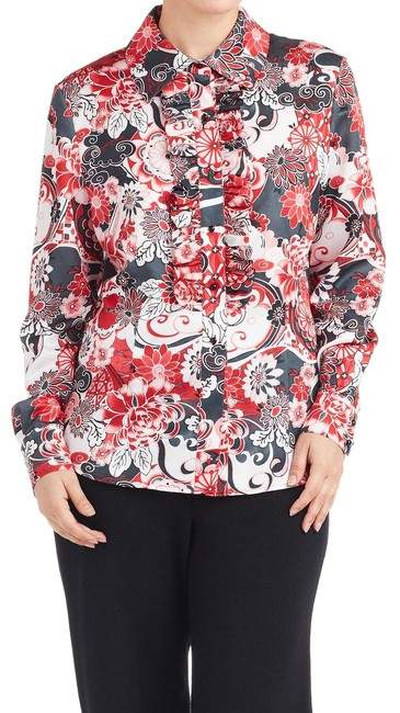 Preload https://img-static.tradesy.com/item/24899906/st-john-red-white-gray-collection-floral-ruffle-6-103243-blouse-size-6-s-0-1-650-650.jpg