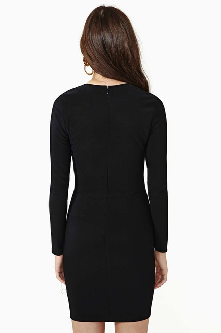 Nasty Gal Plunge Bodycon Dress Image 1