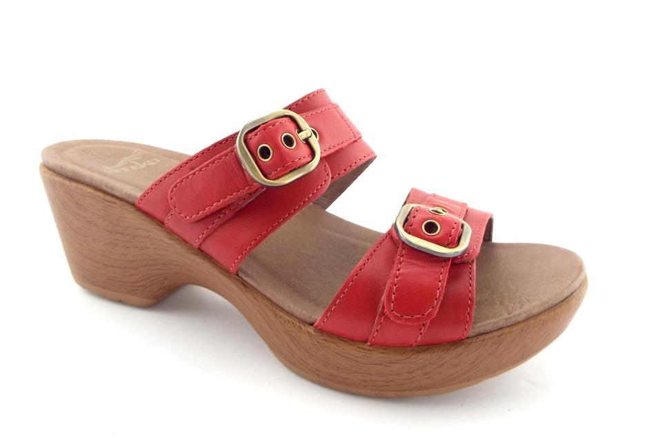 b7cc3e67abd Red Dansko Sandals - Up to 90% off at Tradesy
