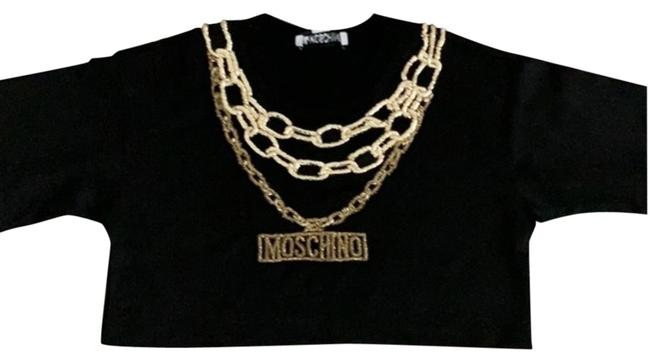 Preload https://img-static.tradesy.com/item/24899940/moschino-tv-h-and-m-black-gold-embellished-crop-tee-shirt-size-8-m-0-1-650-650.jpg