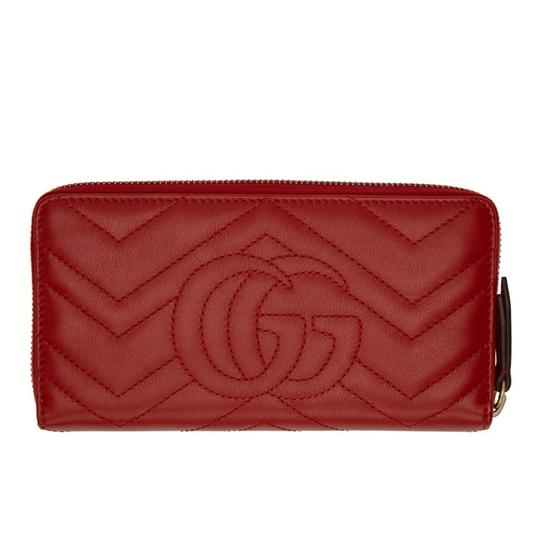 Gucci Marmont quilted leather zip spurns long wallet Image 1