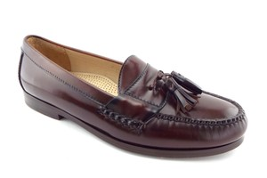 Cole Haan Brown Leather Tassel Loafers Slip-on Shoes