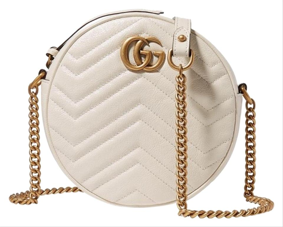 8eb5d95094d93e Gucci Marmont Circle Quilted Leather Cross Body Bag - Tradesy