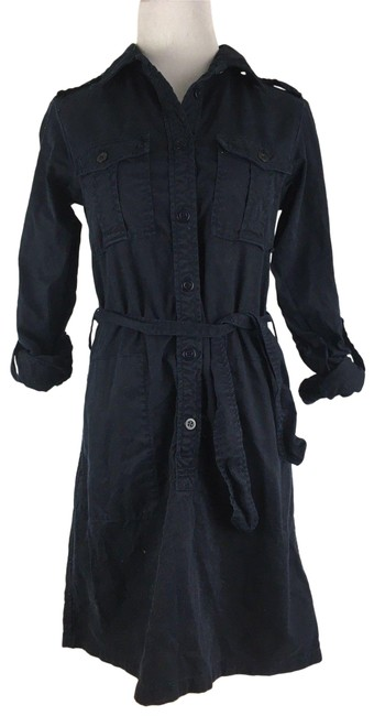 Preload https://img-static.tradesy.com/item/24900124/jcrew-navy-blue-women-s-thick-button-front-longsleeve-khaki-safari-mid-length-short-casual-dress-siz-0-1-650-650.jpg