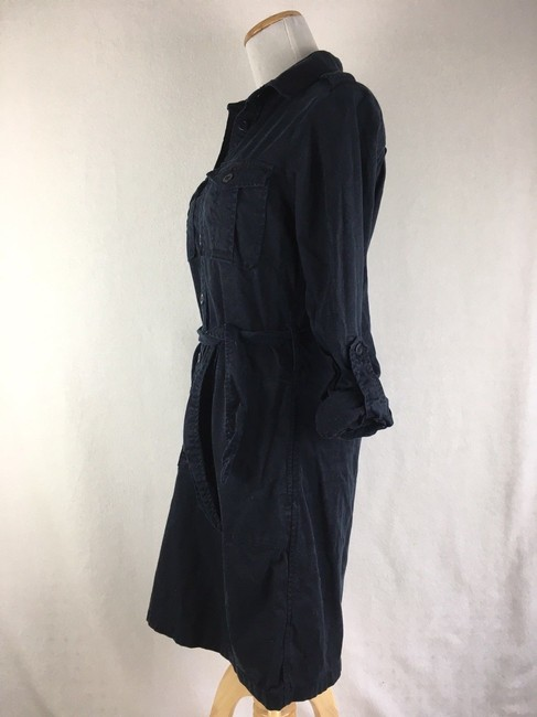 J.Crew short dress Navy Blue Thick Button Front Longsleeve Khaki Safari on Tradesy Image 1