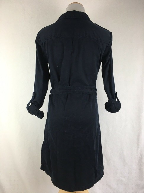 J.Crew short dress Navy Blue Thick Button Front Longsleeve Khaki Safari on Tradesy Image 2