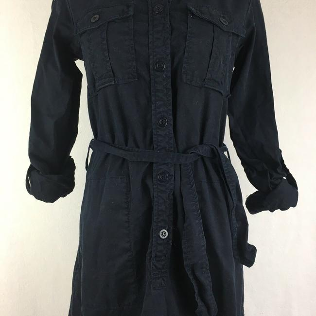 J.Crew short dress Navy Blue Thick Button Front Longsleeve Khaki Safari on Tradesy Image 4