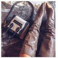 Zara Taupe Boots Image 0