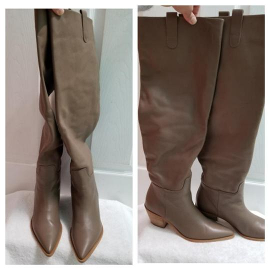 Zara Taupe Boots Image 10
