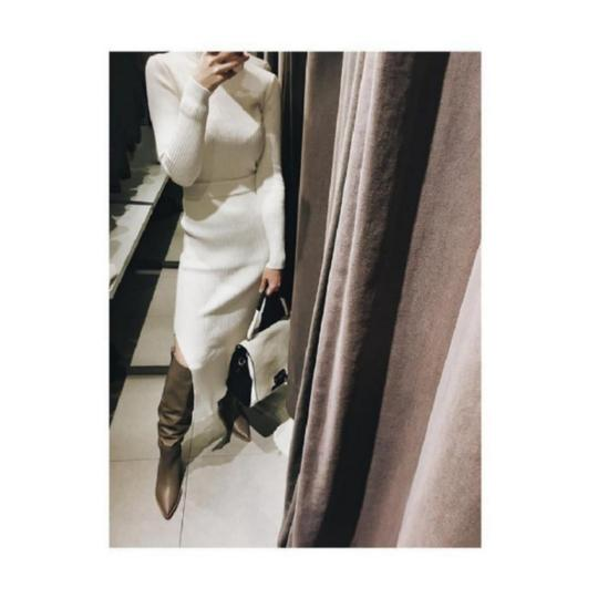 Zara Taupe Boots Image 3