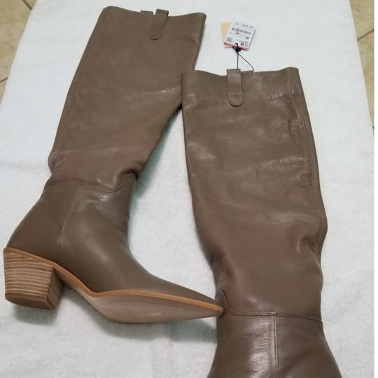 Zara Taupe Boots Image 4