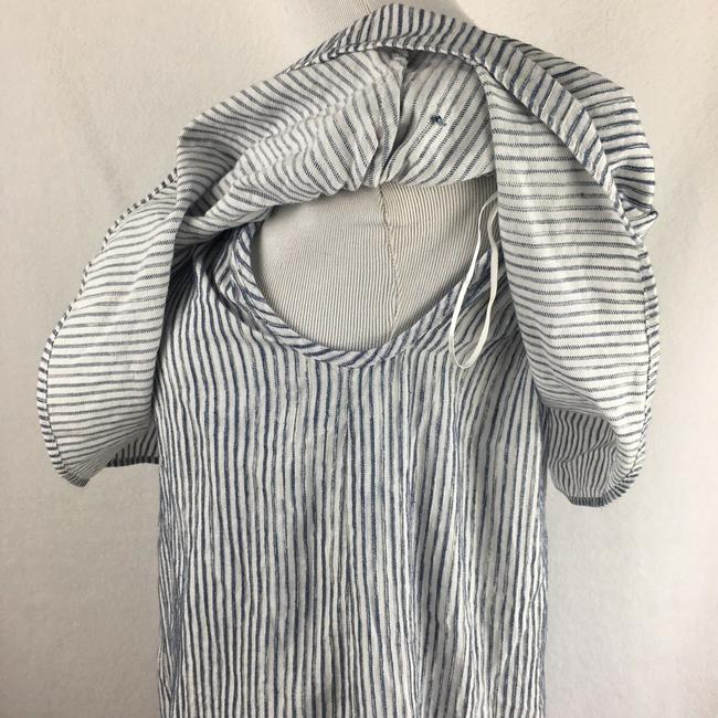 J.Crew short dress Blue & White Off The Shoulder Draped Striped on Tradesy Image 6