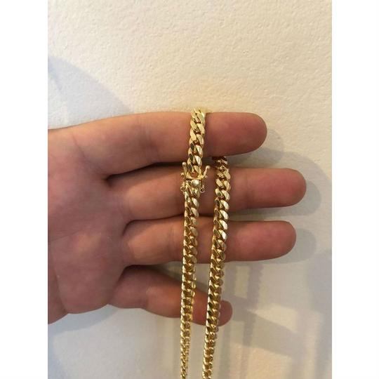 Harlembling Men's Miami Cuban Link Chain Real 14k Gold Over Solid 925 Silver ITALY Image 7