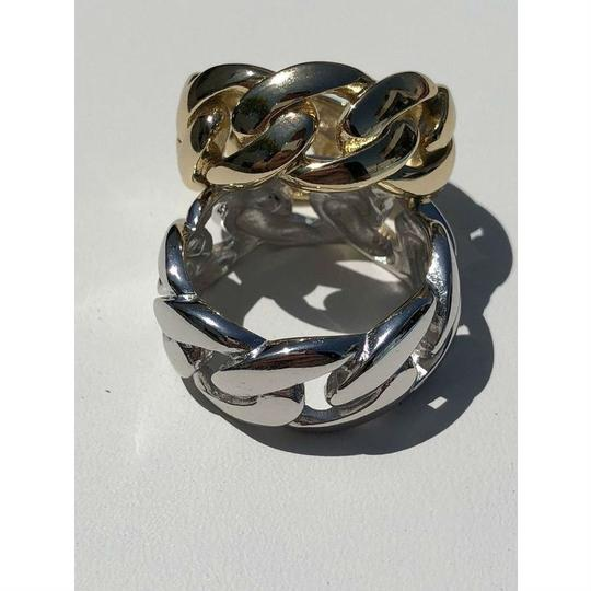 Harlembling Men's Miami Cuban Link RING 14k Gold Rhodium Over 925 Silver Pinky Image 2