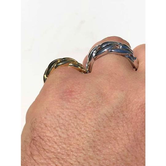 Harlembling Men's Miami Cuban Link RING 14k Gold Rhodium Over 925 Silver Pinky Image 5