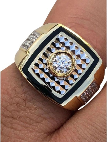 Preload https://img-static.tradesy.com/item/24900178/men-s-real-14k-gold-and-solid-925-silver-solitaire-black-onyx-and-cz-ring-0-1-540-540.jpg