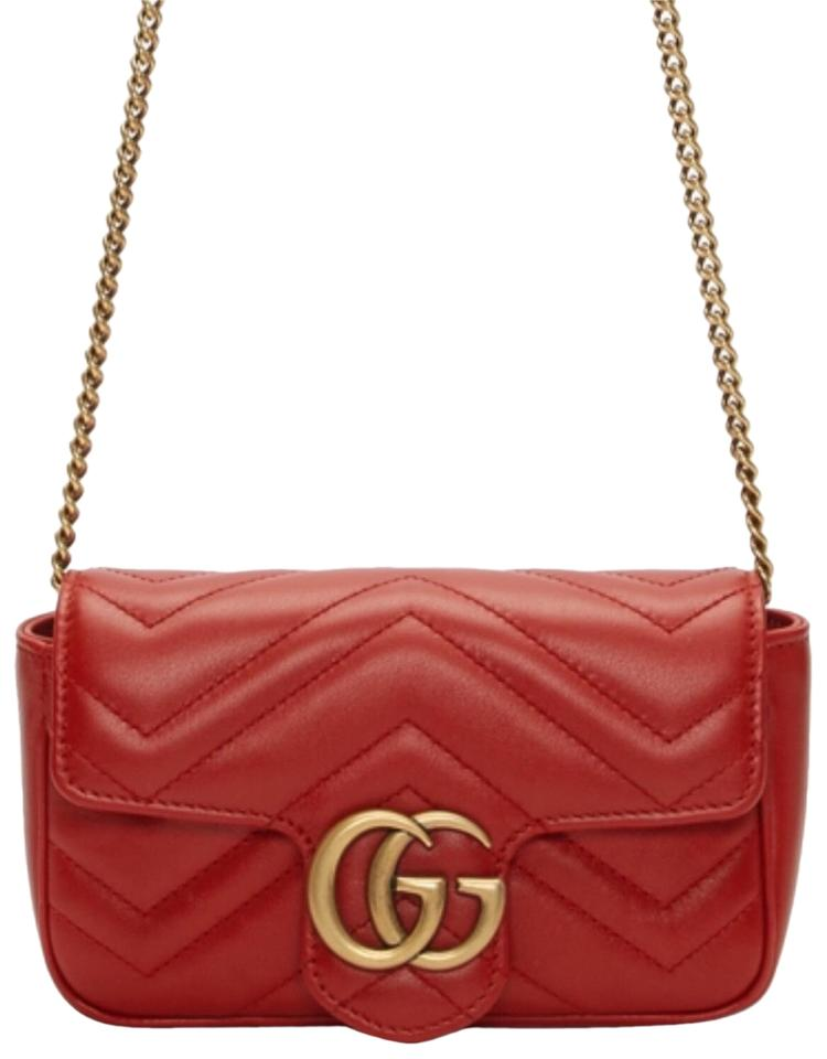 d43042abfc12 Gucci Marmont Super Mini Quilted Leather Cross Body Bag - Tradesy