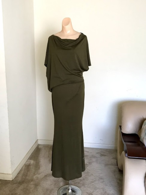Olive Green Maxi Dress by Ibby Libby Image 1