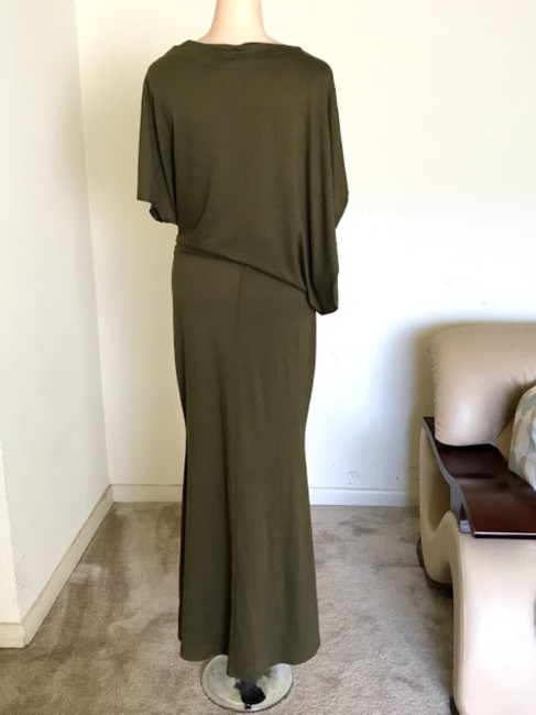 Olive Green Maxi Dress by Ibby Libby Image 3