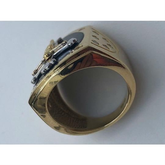 Harlembling Men's REAL 14k Yellow Gold Over Solid 925 Silver Jeses On Cross Ring Image 6