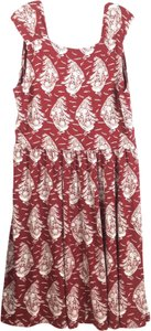 aa966b6e246 Lands  End short dress Red Short Sleeve Whimsical Nautical Themed on Tradesy