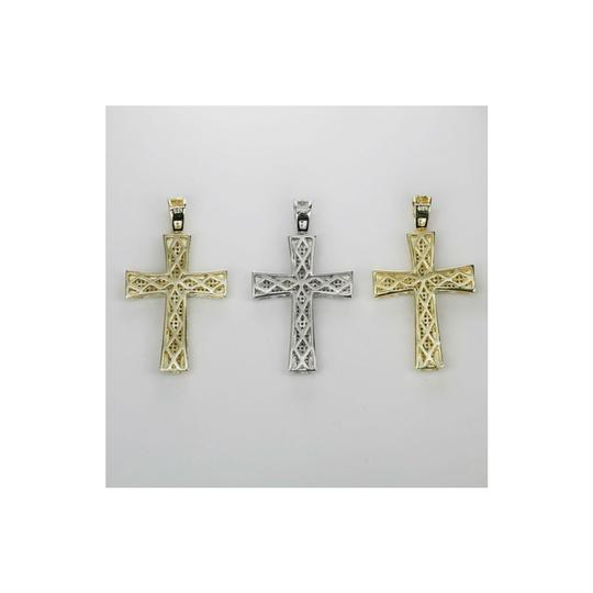 Harlembling Men's Real Solid 925 Silver Cross W. Tennis Chain Pendant Iced Out Hip Image 2
