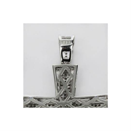Harlembling Men's Real Solid 925 Silver Cross W. Tennis Chain Pendant Iced Out Hip Image 6
