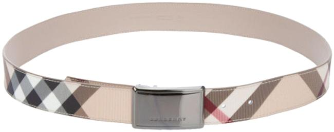 Item - Multi Color New Check Leather Belt